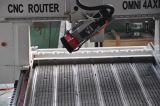 曲げられた表面のための彫版4の軸線CNCのルーターを切り分ける木