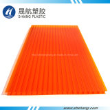Hoja anaranjada protegida ULTRAVIOLETA del material para techos del policarbonato del color (SH17-HT40)