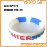 Preiswerter kundenspezifischer Firmenzeichen-SilikonWristband für Großverkauf (YB-SW-34)