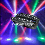 2015 New 8 Eyes LED Spider Moving Head 10 Watts RGBW 4 em 1