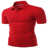 적당한 공백 짧은 소매 폴로 셔츠를 체중을 줄이십시오