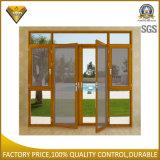 Doppeltes Glasflügelfenster-Aluminiumtür und Fenster mit Bildschirm (XA010)