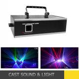 Более дешевый лазер RGB 2W одушевленност полного цвета