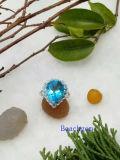 宝石類トパーズの純銀製のリング(R0270)
