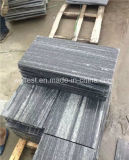 Установите противоскользящие Flamed серого гранита плиткой с Вен в патио асфальтирование