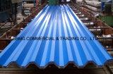 L'acier en métal a enduit la feuille d'une première couche de peinture en acier ondulée en acier galvanisée de toiture ridée par PPGI des feuilles PPGL de toiture