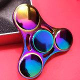 Girador do dedo de 5 minutos tri com cor do arco-íris