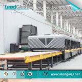 Double glace plate horizontale de chambre de chauffe de Landglass gâchant la machine