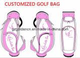 昇進のカスタム一義的な本革のゴルフバッグ