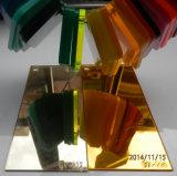 Plástico PMMA Silver e Golden Acrylic Mirror Sheet