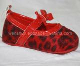 ヒョウプリント赤ん坊靴Ws1304