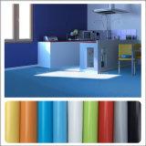 공장 가격 건강한 환경 광택 PVC 박층으로 이루어지는 마루 비닐 지면