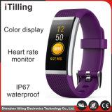 Gran pantalla en color Pulsera la frecuencia cardiaca de la salud de la presión arterial Bluetooth resistente al agua Reloj inteligente