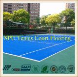 Haltbarer Antibeleg-Tennis-Gerichts-Sport-Gummibodenbelag/im Freiengerichts-Material