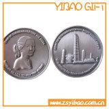 3D記念品(YB-c-002)のための銀製の柔らかいエナメルの金属の硬貨