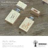 De Hongdao Aangepaste Aandrijving van de Flits USB 8g 16g met USB die Houten Doos _E inpakken