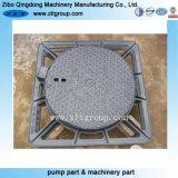 Sand-Gussteil-Entwässerung-gesundheitlicher Abwasserkanal-Einsteigeloch-Deckel im duktilen Eisen
