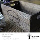 Hongdao passte hölzerne Fertigkeit-Kasten-Blume Box_E an