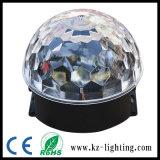 Luz mágica de la luz LED de la bola cristalina