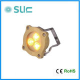 형식 3W Waterproof Brass Swimming Pool LED Underwater Light