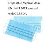 Descartáveis não tecidos 3ply máscara protetora Anti-Virus