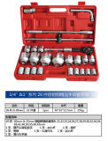 """la chiave a bussola degli strumenti della mano di serie di 26PCS 3/4 """" & 1 """" ha impostato per manutenzione del macchinario"""