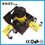 Cilindro temporario 520t del petróleo hidráulico del tonelaje del doble Rr-5006 el alto ayuna salida