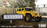 18W éclairage LED tous terrains de lumière de regain de lumière pilotante de lampe de guide optique de travail de l'inondation DEL de 6 pouces imperméable à l'eau pour le chariot de golf de Van de camion de véhicule de SUV ATV 4WD 12V 24V