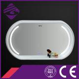 Espejo de madera del cuarto de baño del marco LED de la pantalla táctil Jnh290 con el reloj