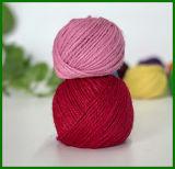 Filato tinto fibra 100% della iuta (colore rosa)