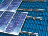 투구된 기와 지붕 태양 전지판 설치 알루미늄 부류