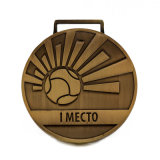 Medaglia d'ottone antica su ordinazione di calcio per il regalo