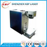 Machine portative d'inscription du laser 20W de fibre de feuillard/pipe pour l'inscription de couleur et de noir