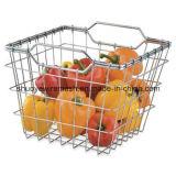 Cestas del almacenaje de acero vegetal fruta del alambre