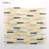Mosaico de cristal del azulejo de la pared del cuarto de baño de los colores ligeros