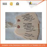 Бирка Hang печатание ярлыка стикера бумаги Kraft способа изготовленный на заказ изготовленный на заказ