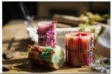 Candela multicolore profumata della colonna, candela della colonna della paraffina