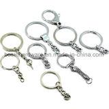 Porte-clés en métal avec accessoires de chaîne