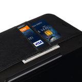Caso di cuoio protettivo del coperchio della chiusura della carta di credito del supporto di vibrazione del foglio magnetico del libro per il iPhone 8