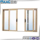 Portelli di vetro di scivolamento di legno del grano