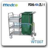 병원 세탁물 트롤리를 옷을 입는 Foldable 폐기물 청소 손수레