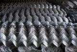 PVC에 의하여 입히는 직류 전기를 통한 체인 연결 철망사 담