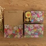 Sacs de cadeau estampés par coutume promotionnelle de papier de Brown avec la qualité