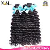 fechamento frontal do laço 13X4 indiano com 3 cabelo Curly indiano não processado profundo indiano da onda 100% do pacote 8A com fechamento frontal