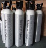 2 4 l алюминиевый материальный малый портативный цилиндр кислорода