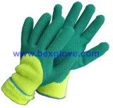 Термо- перчатка латекса, перчатка работы, перчатки зимы теплые