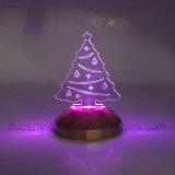 Cassaforte Using il regalo chiaro acrilico dell'albero di Natale di compleanno elegante multicolore a pile all'ingrosso LED