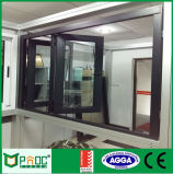 Производство в качестве2047 австралийского стандартные двойные окна алюминиевые рамы Bi Складные двери