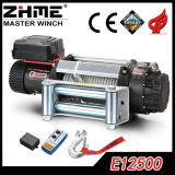 12500lbs 4WD Malacate eléctrico con 12V/24V DC Motor fuera de carretera