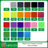 Qingyi Höhepunkt-Funktionseigenschaft-Wärmeübertragung PU-Vinyl für T-Shirts